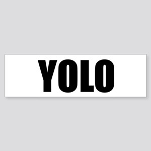 YOLO (You Only Live Once) Sticker (Bumper)
