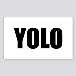 YOLO (You Only Live Once) Sticker (Rectangle)