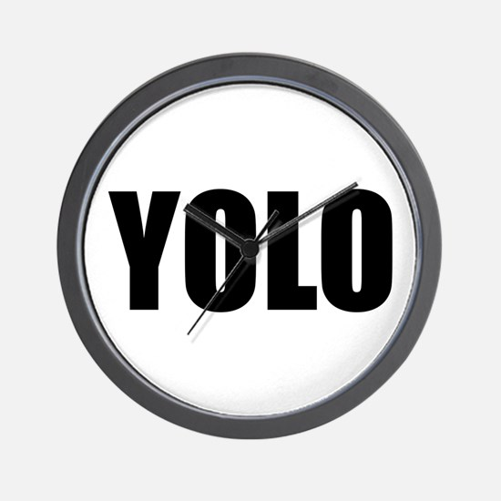YOLO (You Only Live Once) Wall Clock