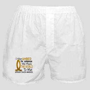 Means World To Me 1 Appendix Cancer Shirts Boxer S