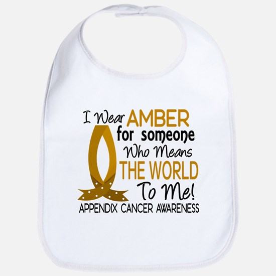 Means World To Me 1 Appendix Cancer Shirts Bib