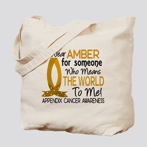Means World To Me 1 Appendix Cancer Shirts Tote Ba