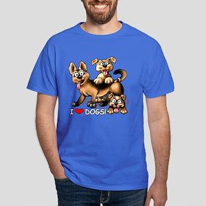 I Love Dogs Dark T-Shirt