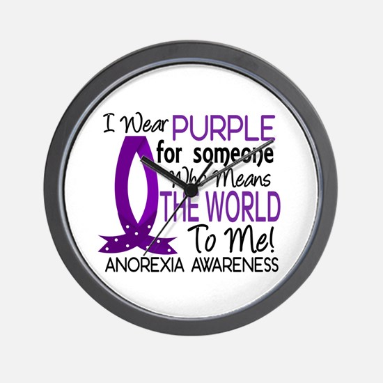 Means World To Me 1 Anorexia Shirts Wall Clock