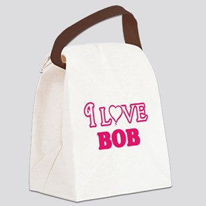 I Love Bob Canvas Lunch Bag