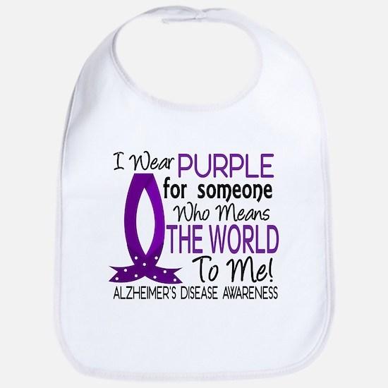 Means World To Me 1 Alzheimer's Disease Shirts Bib
