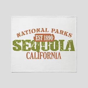 Sequoia National Park CA Throw Blanket