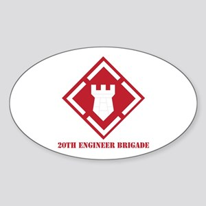 SSI - 20th Engineer Brigade with Text Sticker (Ova