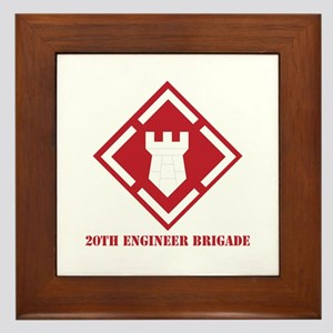 SSI - 20th Engineer Brigade with Text Framed Tile