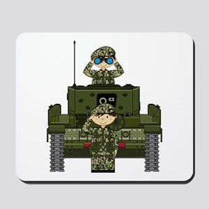 Army Soldiers and Tank Mousepad