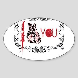 I Heart You1 Sticker (Oval)