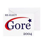 RE-ELECT GORE Greeting Cards (Box of 6)