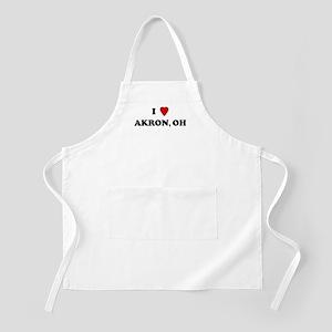 I Love Akron BBQ Apron