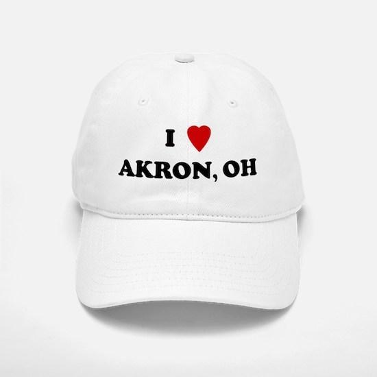 I Love Akron Baseball Baseball Cap