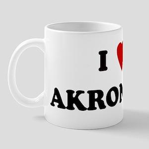 I Love Akron Mug