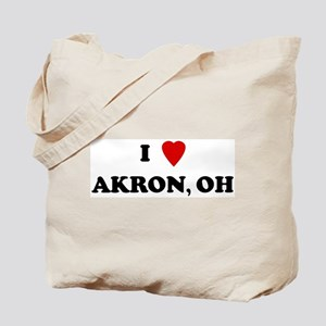 I Love Akron Tote Bag