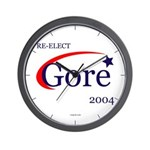 RE-ELECT GORE 2004 Wall Clock