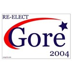 RE-ELECT GORE 2004 Large Poster