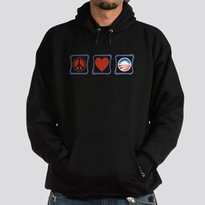 Peace, Love and Obama Hoodie (dark)