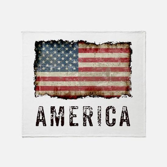 Vintage America Throw Blanket