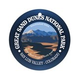 Great sand dunes Round Ornaments