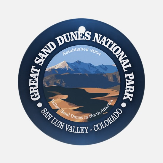 Great Sand Dunes NP Round Ornament