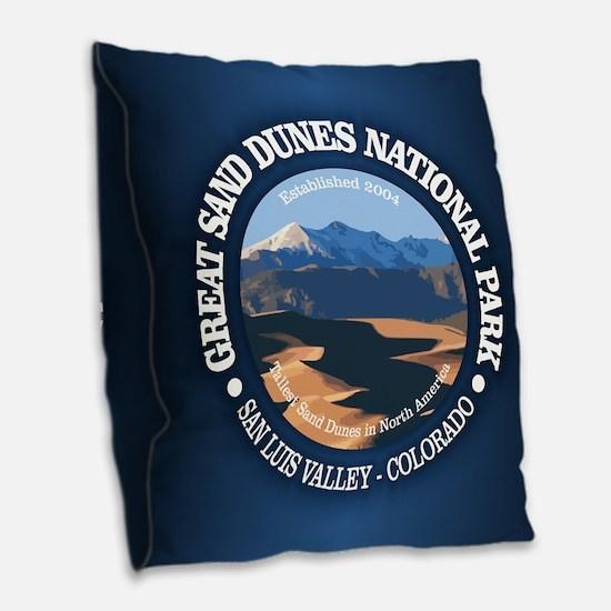 Great Sand Dunes NP Burlap Throw Pillow