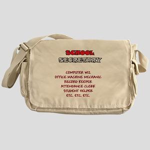 School Sec. Duties Messenger Bag