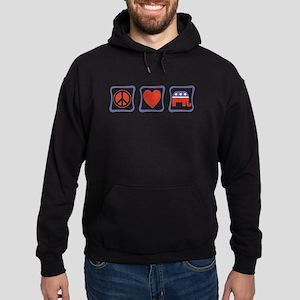 Peace, Love and Republican Hoodie (dark)