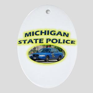 Michigan State Police Ornament (Oval)