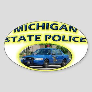 Michigan State Police Sticker (Oval)