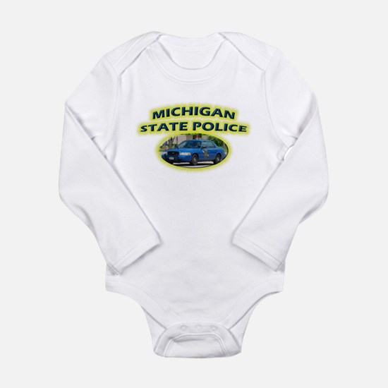 Michigan State Police Long Sleeve Infant Bodysuit