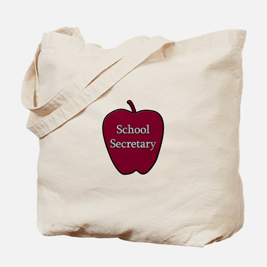 School Secretary Apple Tote Bag