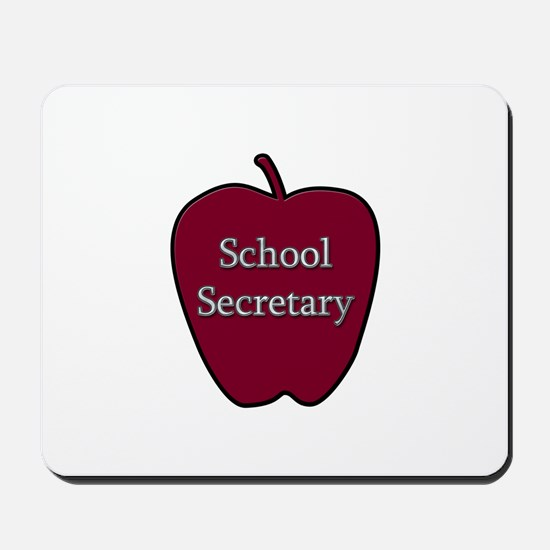 School Secretary Apple Mousepad
