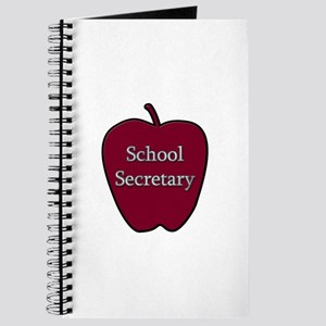 School Secretary Apple Journal