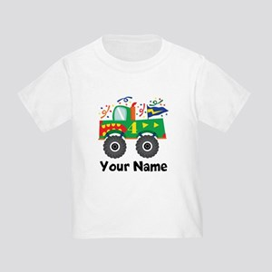 Personalized 4th Birthday Monster Truck Toddler T-