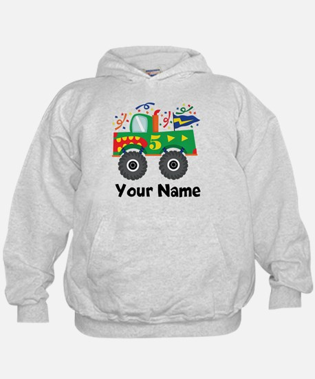Personalized 5th Birthday Monster Truck Hoodie