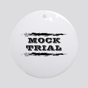 Mock Trial Ornament (Round)