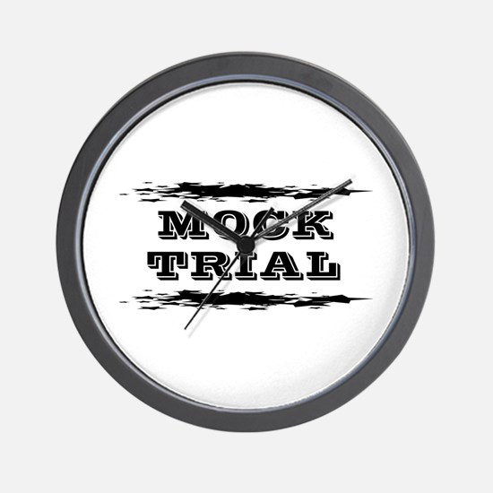 Mock Trial Wall Clock