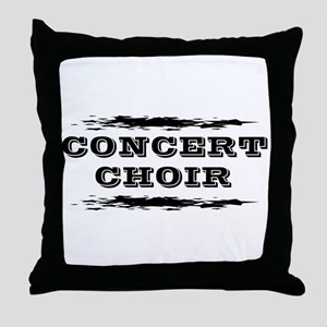 Concert Choir Throw Pillow
