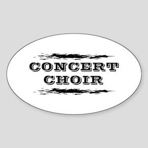 Concert Choir Sticker (Oval)