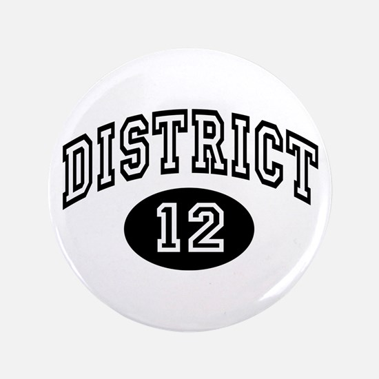 "Hunger Games District 12 3.5"" Button"