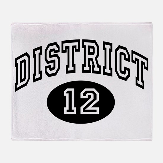 Hunger Games District 12 Throw Blanket
