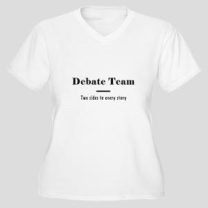 Debate Team Women's Plus Size V-Neck T-Shirt