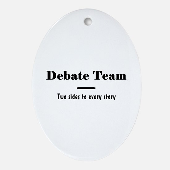 Debate Team Ornament (Oval)