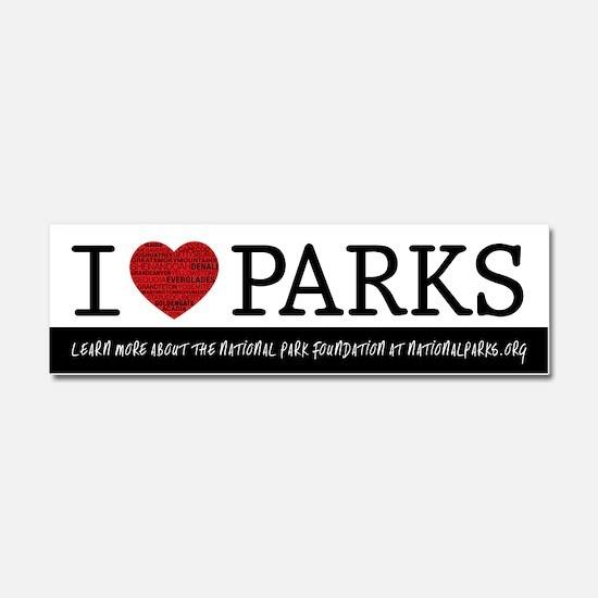 I Heart Parks Car Magnet 10 x 3