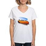Velomobile Bike Women's V-Neck T-Shirt