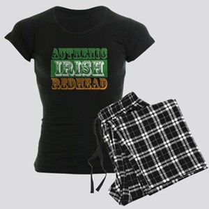 Authentic Irish Redhead Women's Dark Pajamas