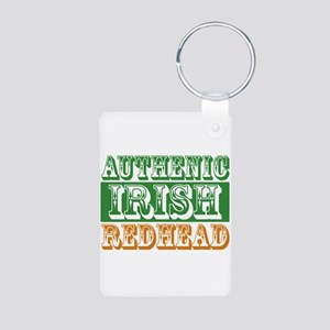 Authentic Irish Redhead Aluminum Photo Keychain