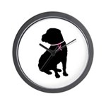 Shar Pei Breast Cancer Support Wall Clock